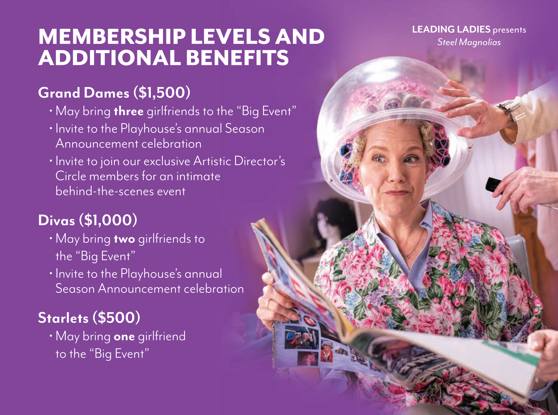 Leading Ladies Membership Levels